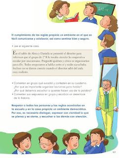 Apoyo Primaria Formación Cívica y Etica 2do. Grado Bloque IV Lección 4 Las reglas acuerdos para todos