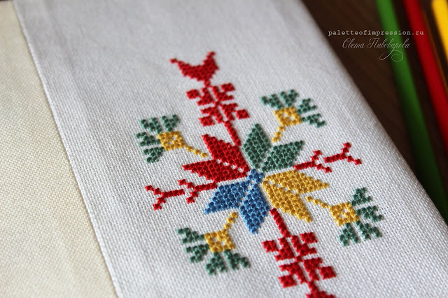 Удмуртская вышивка Традиционный удмуртский мотив для вышивки Обложка для записной книги с вышивкой Прикладная вышивка