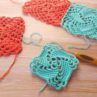 imagen granny squares a crochet las cortinas de mis sueños