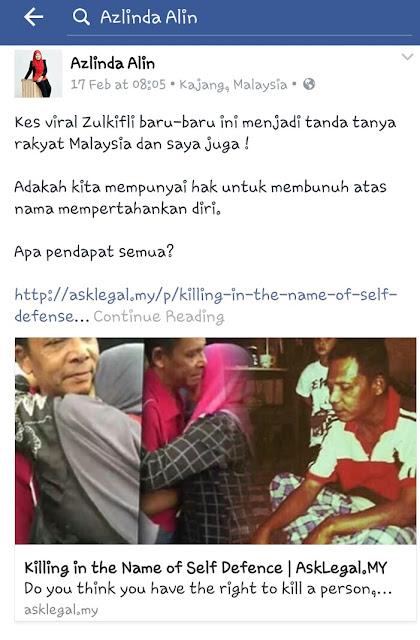 Viral Kes Zulkifli Membunuh Perompak untuk Mempertahankan Diri dan Keluarga