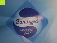 Siegel Sanitized: Hygiene Steppbett 135x200cm Sanitized 100% Polyester Bettdecke Mikrofaser Weiß