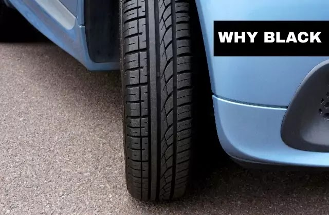Why car tires are always Blacks?