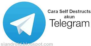 Cara menghapus Akun Telegram Otomatis dalam rentang Waktu Tertentu