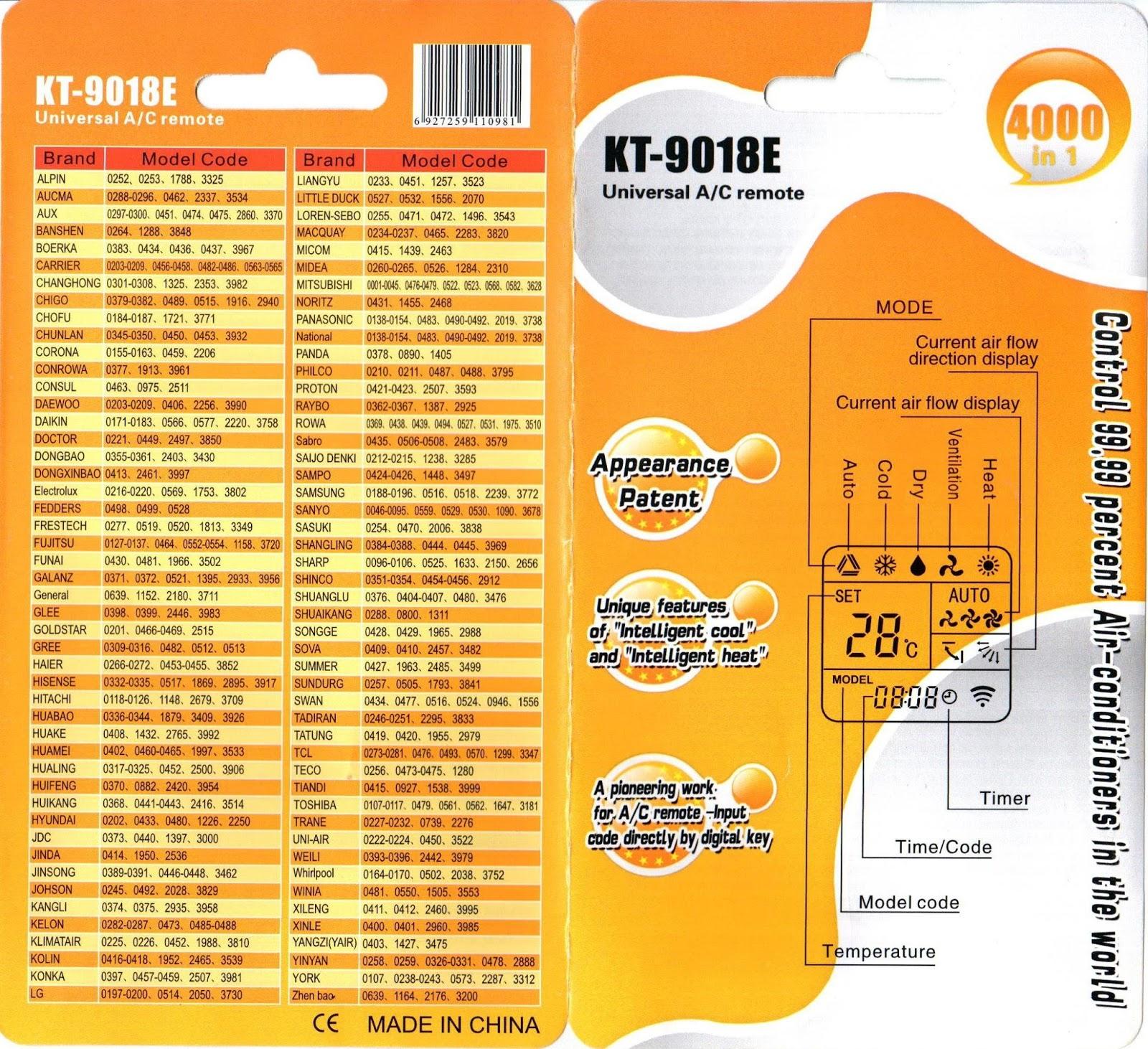 Универсальный пульт от кондиционера lg цены на установку кондиционера в Краснодаре