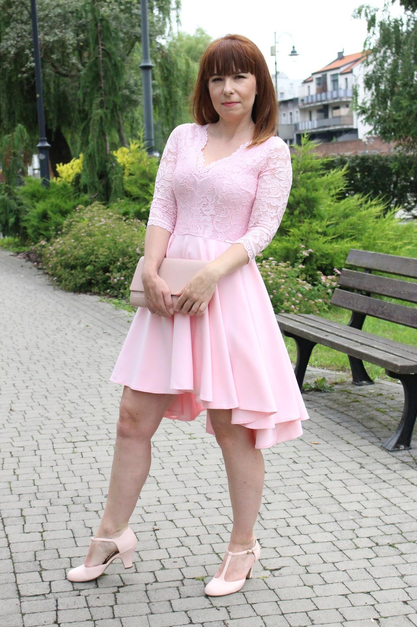 sukienka kornkowa z dłuższym tyłem nicole