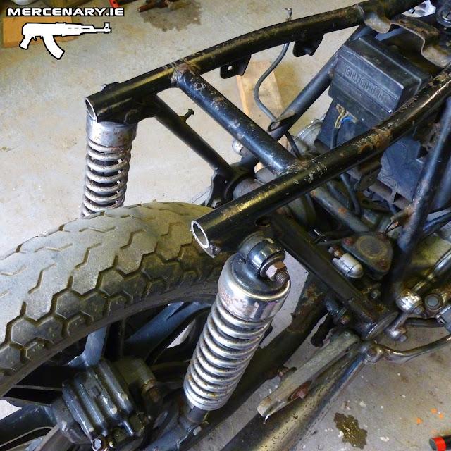 Project XS 850 Sidecar Brat - Rear Frame Loop