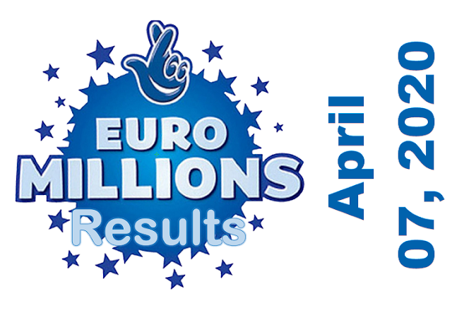 EuroMillions Results for Tuesday, April 07, 2020