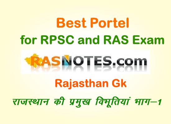Rajasthan GK:Eminent Personalities of Rajasthan (Part-1)