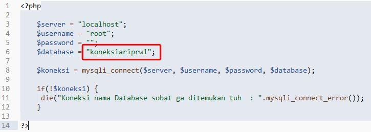 Koding Koneksi Database Gagal - Ari Prasetyawan
