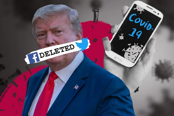 """تويتر و فيسبوك تحظران محتوى """"مضلل"""" على حسابات دونالد ترامب"""