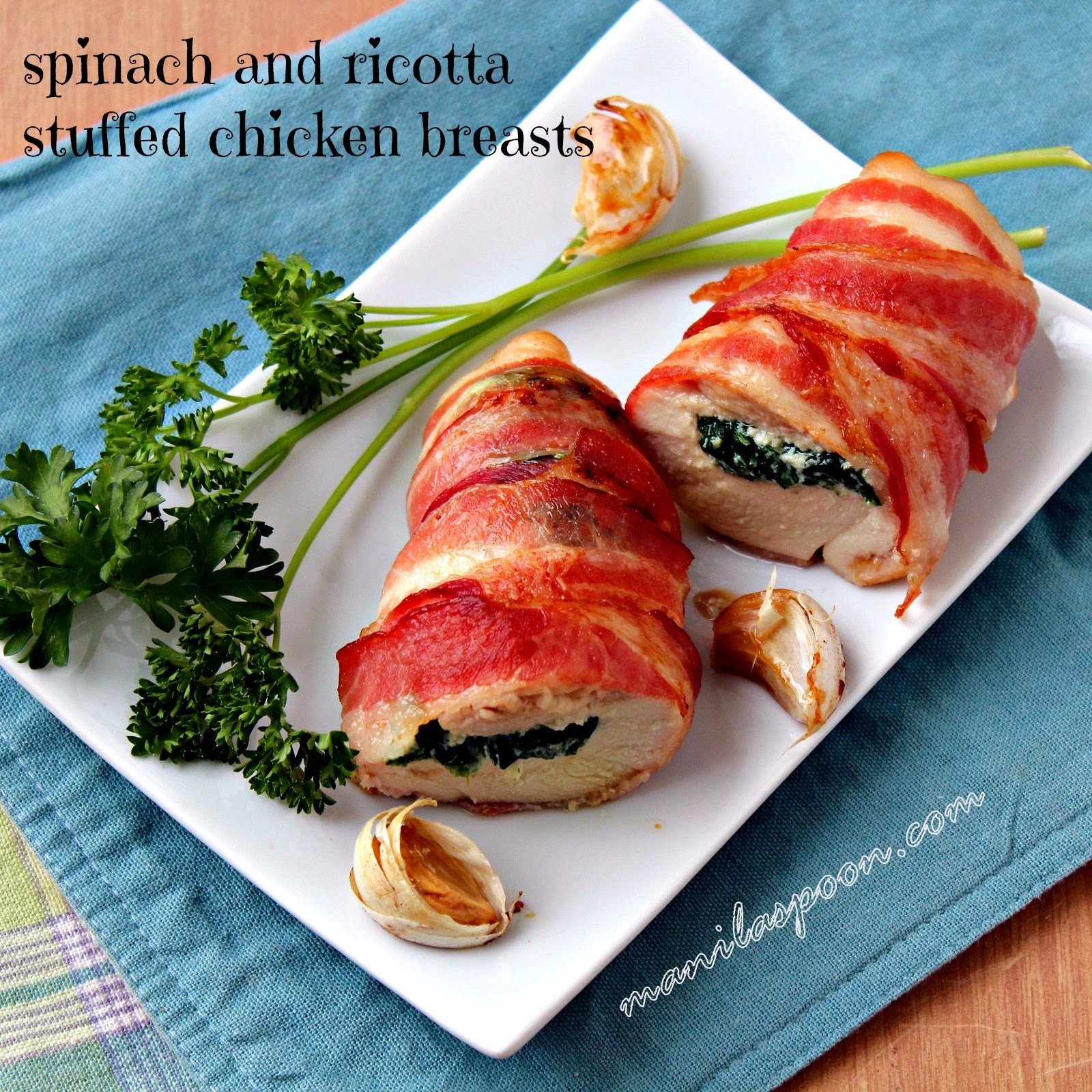 recipe: stuffed chicken breast with bacon and spinach [30]