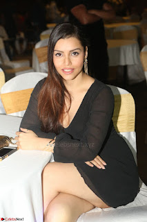 Kyra Dutta in black At Rogue Movie Audio Launch ~  086.JPG