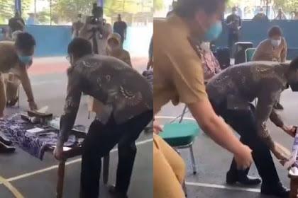 Viral Video Gibran Rakabuming Gotong Meja dengan Nadiem Makarim, Begini Respon Guru-guru