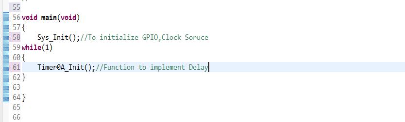 TM4C123GH6PM(TIVA C SERIES TM4C123G Evaluation Kit) delay function