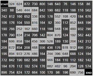 Divisible by 6 (numerical maze)