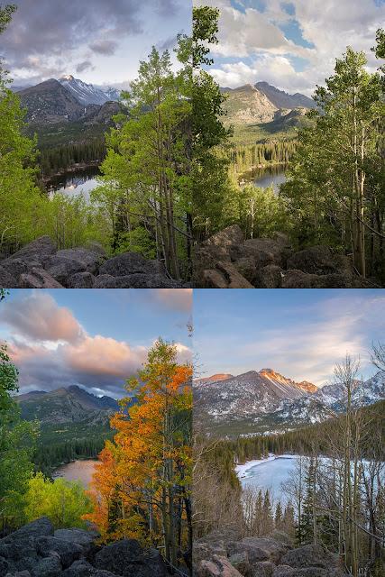 colorado 4 seasons autumn winter fall spring summer bear lake RMNP rocky mountain national park
