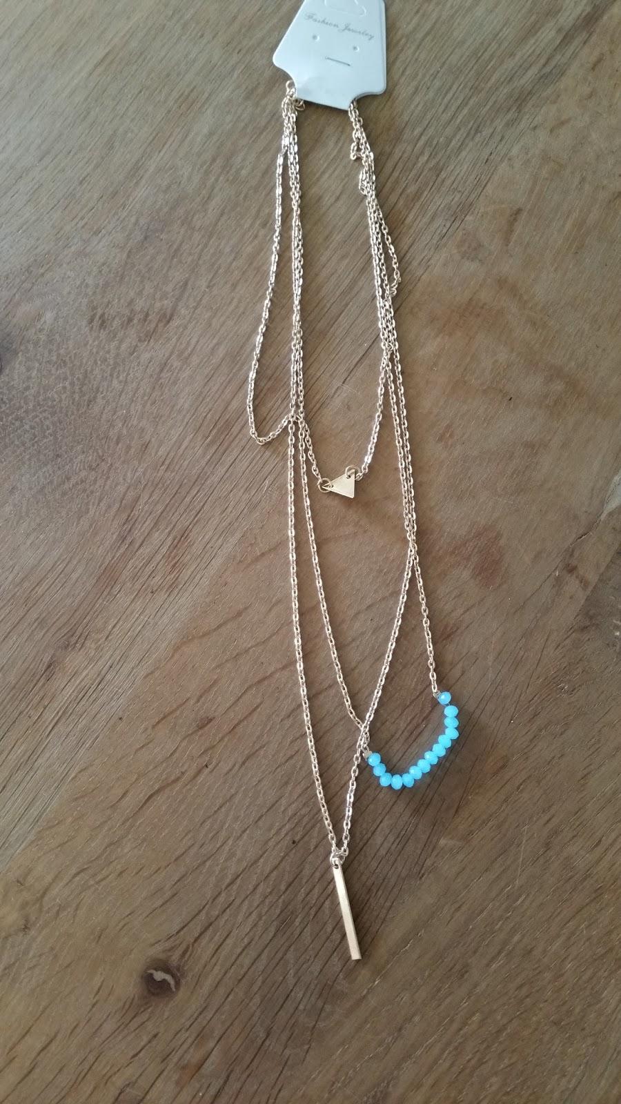 Shopping haul series #2: Zaful minimal necklace