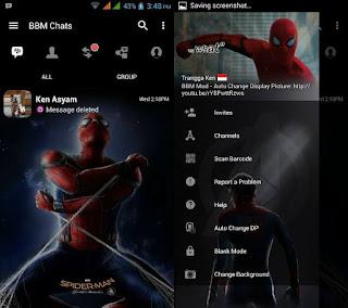 BBM MOD Spiderman Home Coming Apk v3.3.4.48 Terbaru 2017