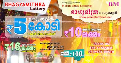 bhagyamithra lottery 2020, bhagyamithra 2020 results, kerala lottery bhagyamithra, kerala bhagyamithra 2020, bhagyamithra lottery result