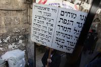 Orthodox-Joodse wijk Mea Sjearim in Jeruzalem