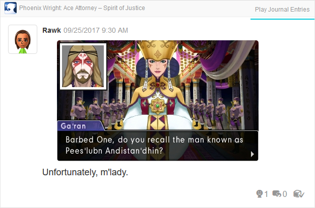 Phoenix Wright Ace Attorney Spirit of Justice barbed one Ga'ran Sigatar Khura'in