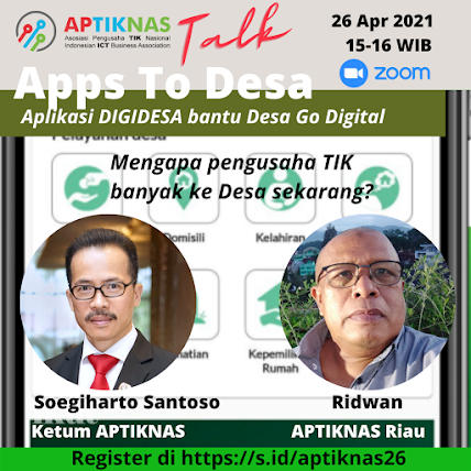 APTIKNASTalk APPS TO DESA - 26 April 2021