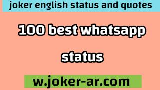 100 BEST WhatsApp Status in english 2021 - joker english