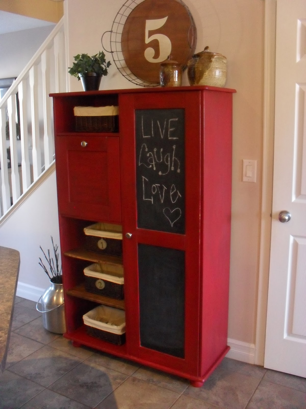 Home Frosting: Barn Red Cabinet