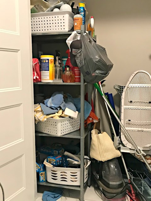 How to utilize the dead space in a closet from Thrifty Decor Chick