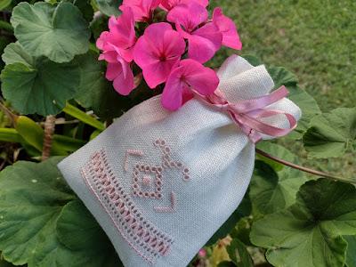 Embroidered Ukrainian Drawn Thread Sachet