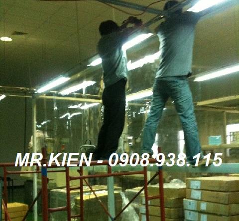 Màn nhựa PVC ngăn giữ lạnh Nhà máy Daiichi Seiko