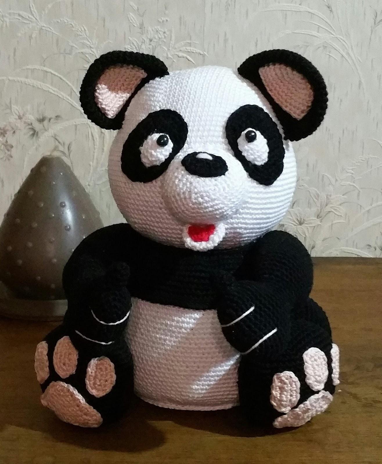 oso panda amigurumi gigante (tutorial) - YouTube | 1600x1316