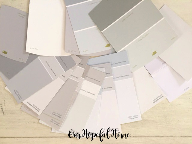 Gray paint chip cards