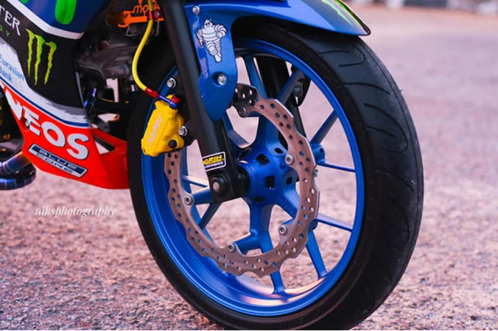 Yamaha Exciter 135 độ siêu dị với ngoại hình bình xăng phía trước, đẹp không khác gì xe đua