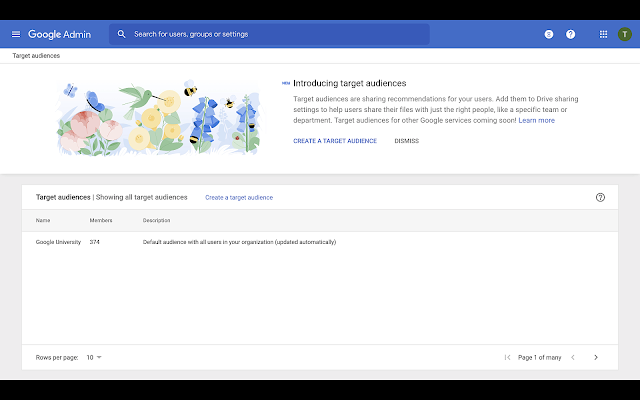 Limit Google Drive sharing to specific groups with target audiences 2