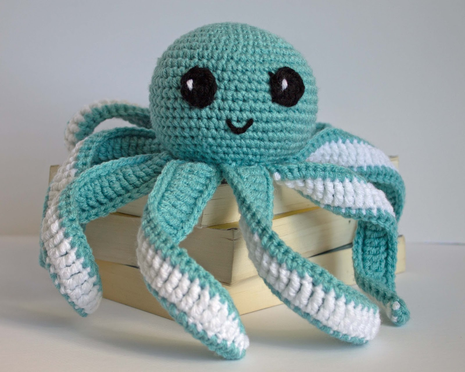 Cute Panda Amigurumi Pattern : Amigurumi Octopus Baby Toy Free Pattern - The Friendly Red Fox