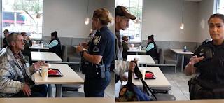 Aστυνομία πετάει άστεγο έξω από McDonald's ενώ είχε πληρωθεί το γεύμα του