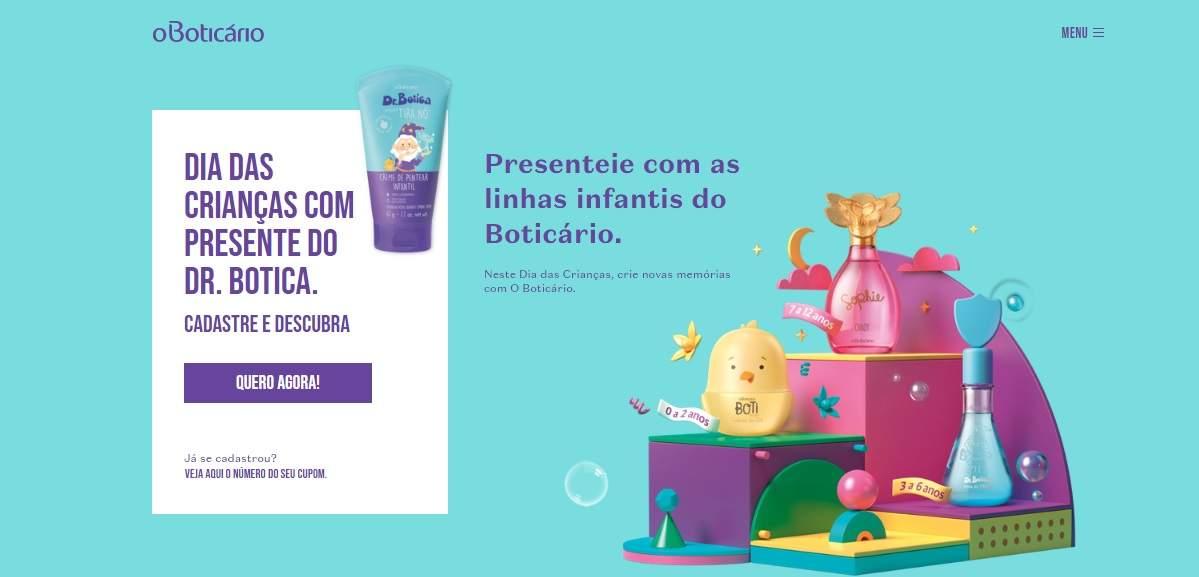 Brinde O Boticário Creme Pentear Infantil Grátis Dia das Crianças 2019
