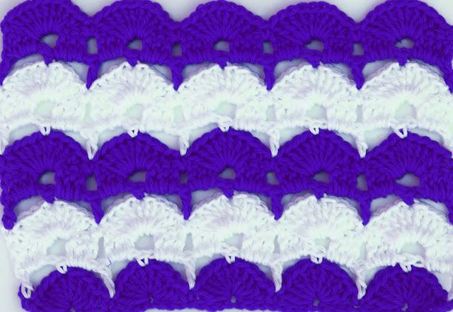 5 - Crochet Imagen Puntada de abanicos para blusas y jerseys por Majovel Crochet