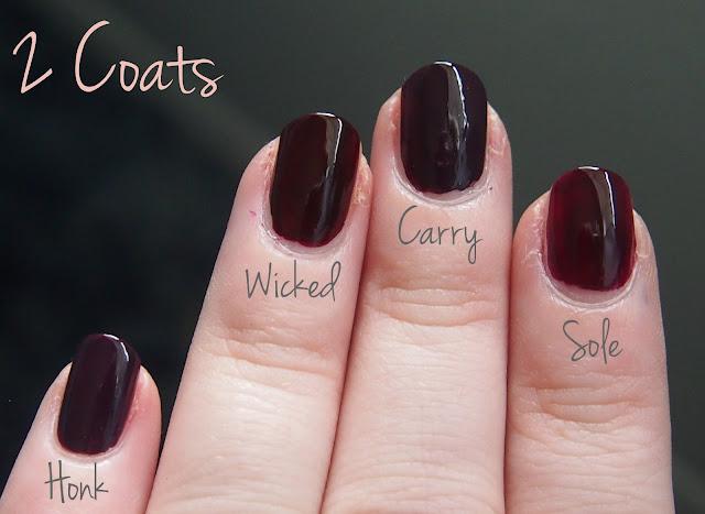 Deep Reds Comparisons Adore A Polish A Simple Beauty Blog