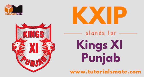 KXIP Full Form