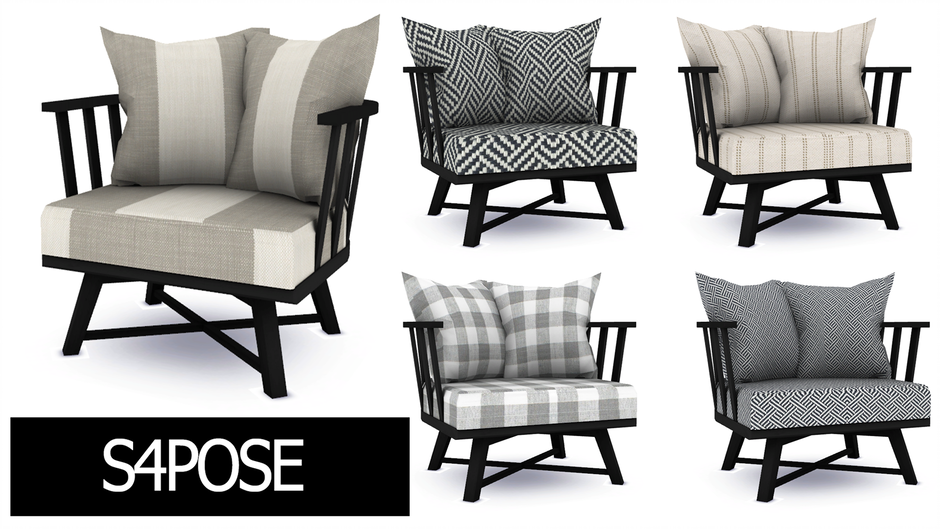 Download Sims 4 Pose: Era Living room Chair Casual {Chair ...