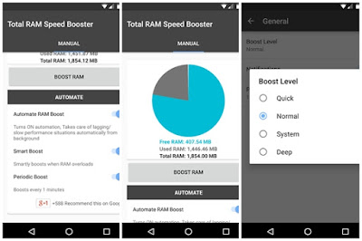 تطبيق Total RAM Speed Booster المدفوع لتسريع و تنظيف هاتف الأندرويد