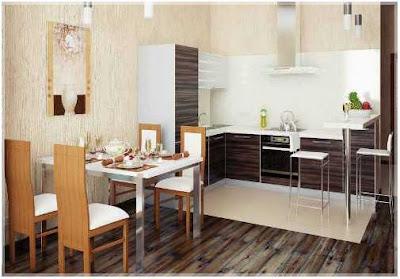 contoh desain dapur dan ruang makan