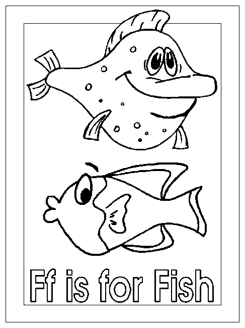 Coloring Activity Pages quot Ff is for Fish quot Coloring Page