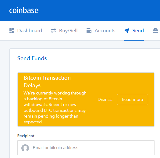 Coinbase Grips Bitcoins for 24 Hours | dinbits