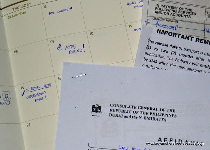 Affidavit of Mutilation from Philippine Consulate Dubai
