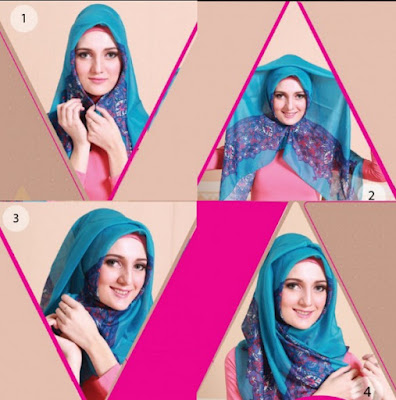 Panduan Menggunakan Jibab Azura Style Ala Ussy Sulistiowaty