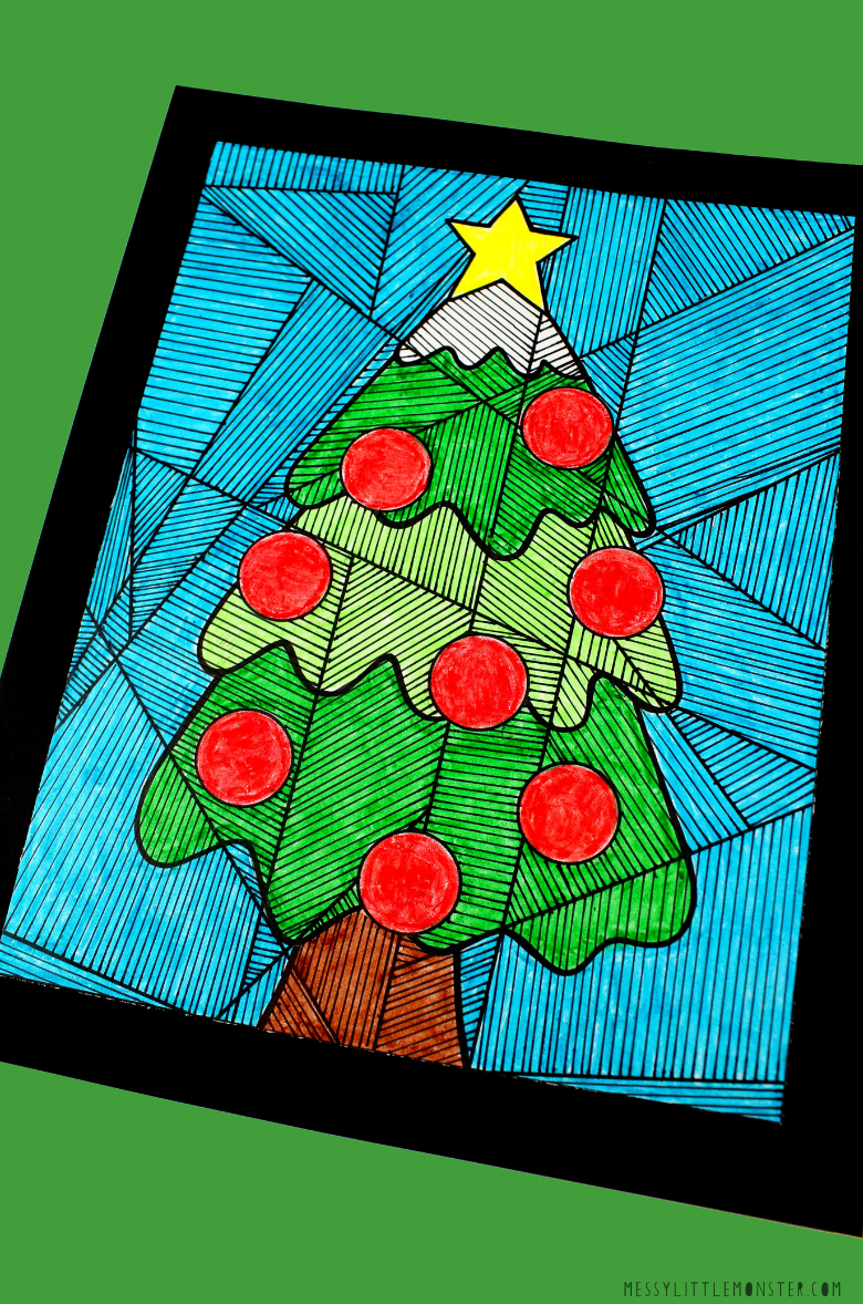 Christmas tree colouring