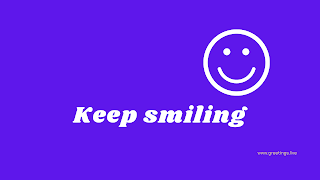 Keep smiling Desktop Wallpaper images with voilet color background